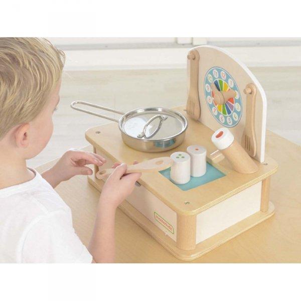Drewniana Mini Kuchenka Dla Dzieci + Akcesoria - MASTERKIDZ