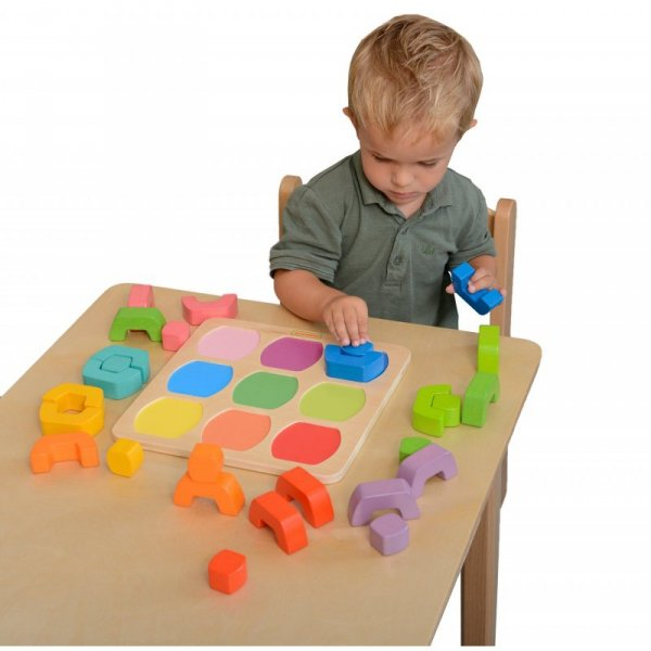 Kolorowe Klocki Dzielone Sorter Kształtów Kolorów - Masterkidz