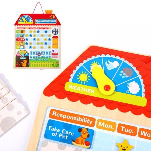 Drewniana Tabela Odpowiedzialności Zachowania Kalendarz - TOOKY TOY