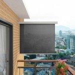 Wielofunkcyjna markiza boczna, balkonowa, 150 x 200 cm, szara