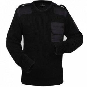 Sweter męski do pracy, czarny, rozmiar XL