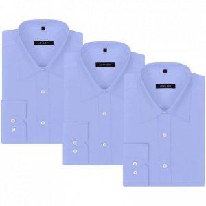 Męskie koszule błękitne, rozmiar XL, 3 szt.