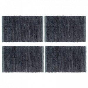 Maty na stół, 4 szt., Chindi, gładkie, antracytowe, 30x45 cm