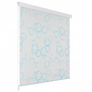 Roleta prysznicowa 120 x 240 cm, wzór w bąbelki