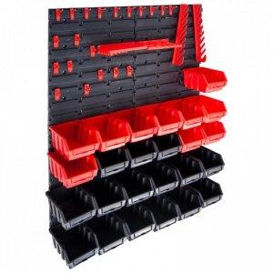29-częściowy organizer na panelach ściennych, czerwono-czarny