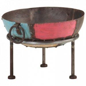 Kolorowe palenisko rustykalne, Ø 40 cm, żelazne