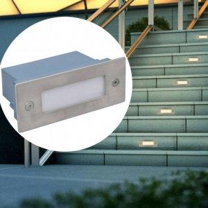 2 Lampki na schody LED w obudowie 44 x 111 x 56 mm
