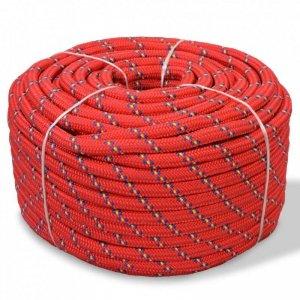 Linka żeglarska z polipropylenu, 10 mm, 50 m, czerwona