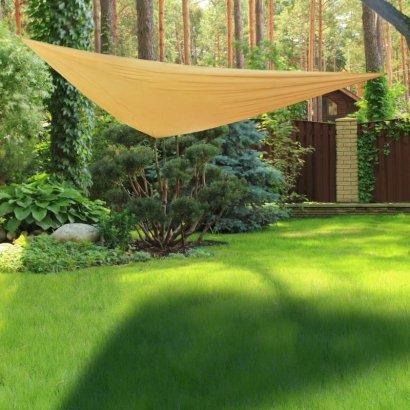 HI Żagiel ogrodowy, trójkątny, 3 x 3 m, beżowy