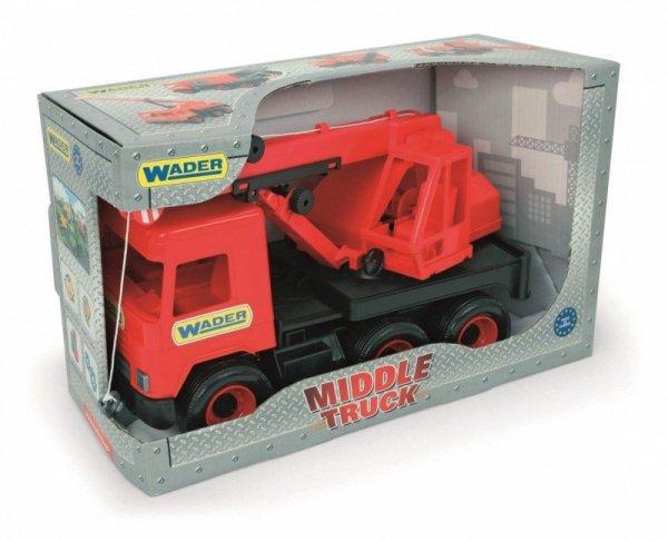 Wader Dźwig czerwony 38 cm Middle Truck w kartonie