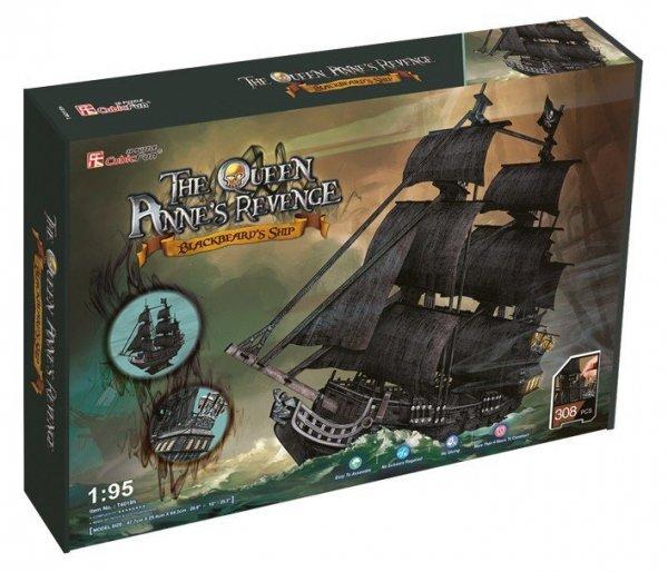 Cubic Fun Puzzle 3D Duży zestaw okręt piracki Zemsta Królow