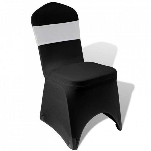 25 kremowych, dekoracyjnych pasów na krzesła z diamentową klamrą