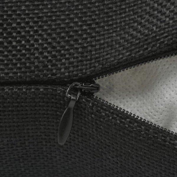 Poszewki na poduszki 4 szt. lniane, czarne 50x50 cm