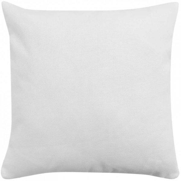 Poszewki na poduszki 4 szt. lniane, białe 50x50 cm