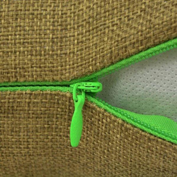 Poszewki na poduszki 4 szt. lniane, zielone 40x40 cm