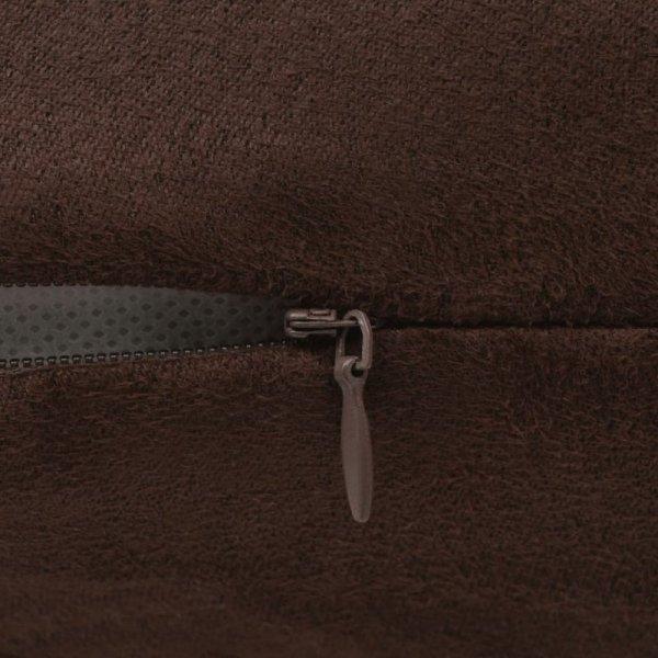 Poszewki na poduszki 50x50 cm, zamszowe, 4 szt., brązowe