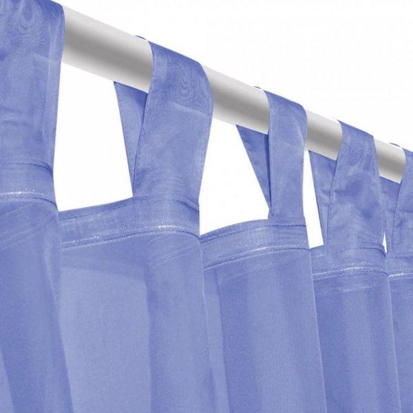 Zasłony z woalu, 2 sztuki, 140 x 225 cm, niebieski