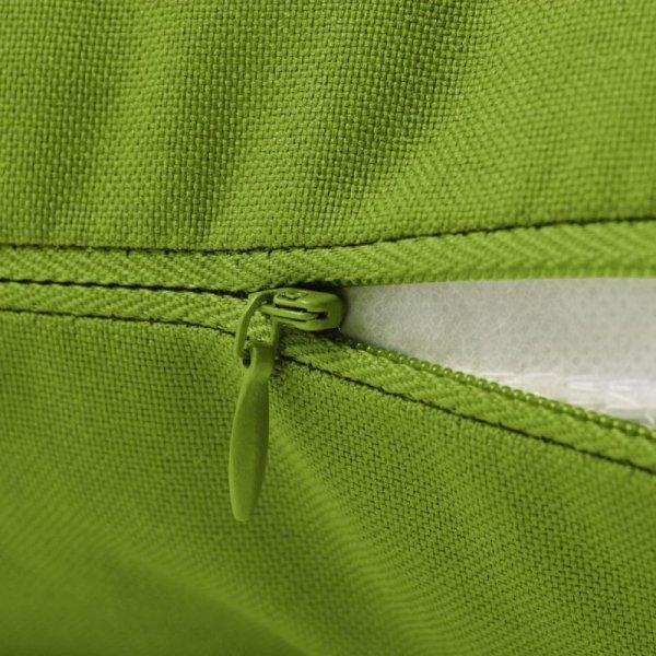 Poduszki na zewnątrz, 2 sztuki, 45x40 cm, zielone jabłuszko