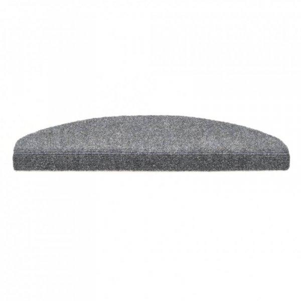 Samoprzylepne nakładki na schody, 15 szt., 65x21x4 cm, szare