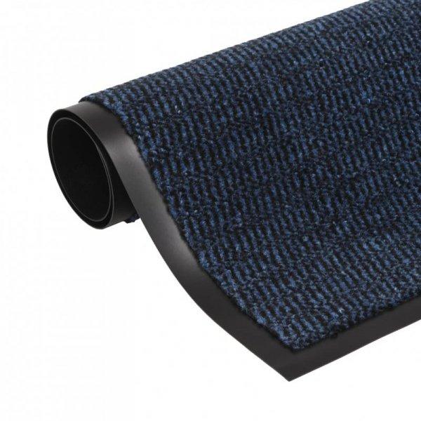 Prostokątna wycieraczka przed drzwi 60 x 90 cm, niebieska