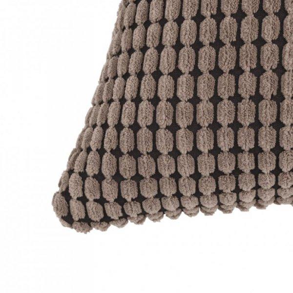 Zestaw 2 poduszek z weluru w kolorze brązowym 60 x 60 cm