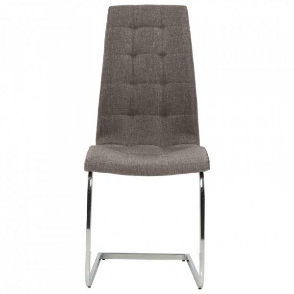 Wspornikowe krzesła stołowe, 6 szt., kolor taupe, obite tkaniną