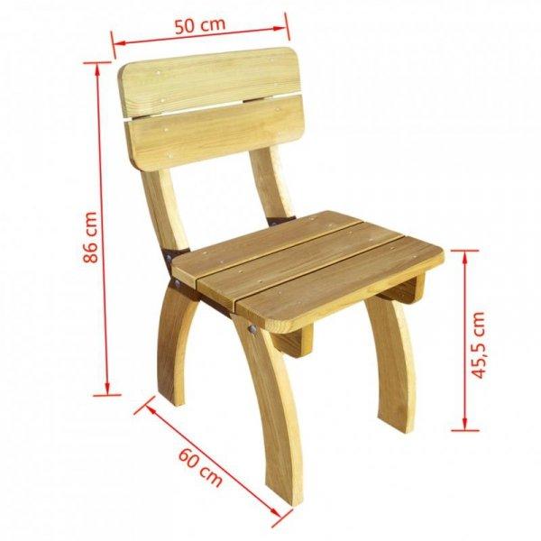 Krzesło z oparciem z drewna sosnowego