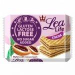 Wafle kakaowe bez glutenu, laktozy i bez dodatku cukru Lea Life, 95g