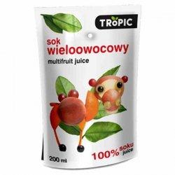 Sok wieloowocowy bez dodatku cukru Tropic, 0,2l