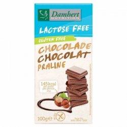 Czekolada mleczna z nadzieniem pralinowym  b/laktozy i b/glutenu Damhert, 100g