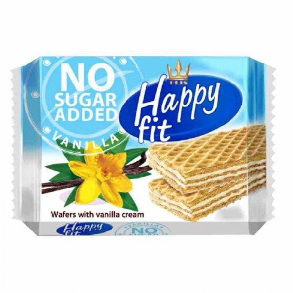 Wafelki waniliowe bez dodatku cukru Happy Fit, 95g