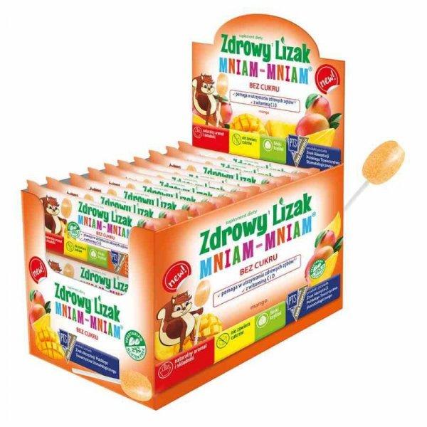 Zdrowy Lizak mniam-mniam o smaku mango Starpharma, 6g (płaski)