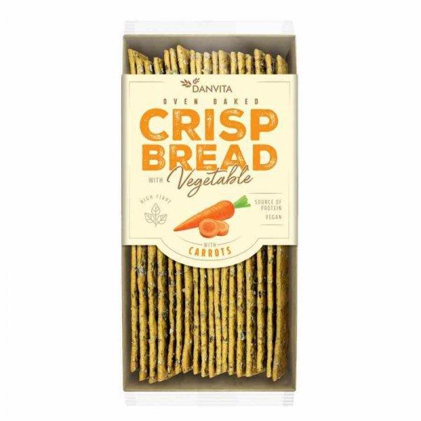 Płaskie chlebki warzywne z marchewką Danvita, 130g