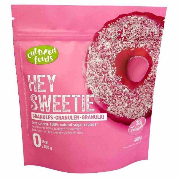 Hey Sweetie w granulkach - naturalny zamiennik cukru na bazie erytrytolu i stewii Cultured Foods, 400g