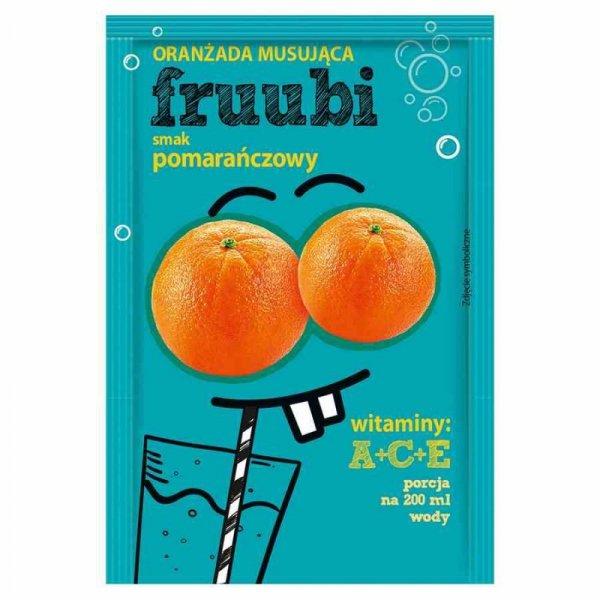 Oranżadka FRUUBI - pomarańczowa Delecta, 23g