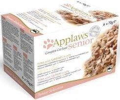 APPLAWS Senior Selection (Kurczak w galaretkce, tuńczyk&sardynka, tuńczyk&łosoś) 6x70g [1040]