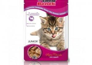 SUPER BENEK Saszetka dla kota z kawałkami jagnięciny w sosie - Super Premium 100g