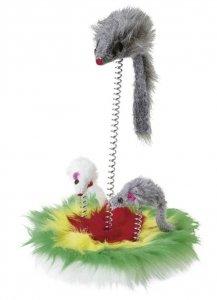 KERBL Zabawka mysz na sprężynie, 25cm [84247]
