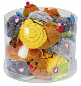 KERBL Zabawka dla kota Zwierzaki Pluszowe, 7 cm [83224]