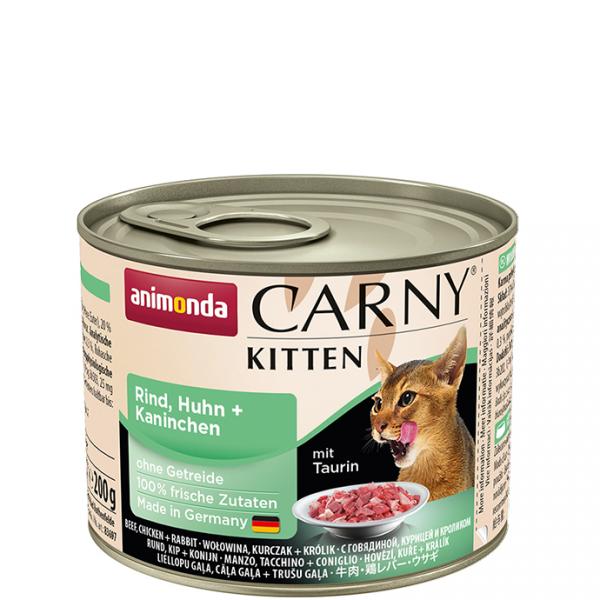ANIMONDA Carny Kitten puszka wołowina kurczak królik 200 g