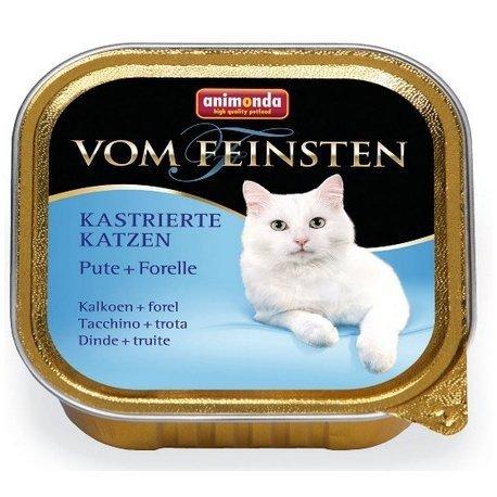 ANIMONDA Vom Feinsten for Castrated Cats szalka z indykiem i pstrągiem 100 g