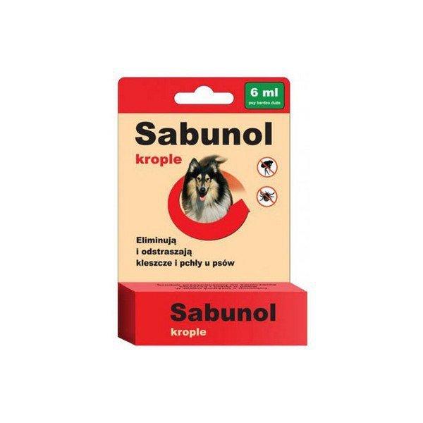 SABUNOL krople przeciw pchłom i kleszczom dla psów 6 ml