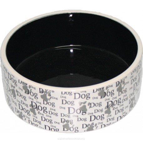 YARRO Miska ceramiczna dla psa z napisem DOG 19,5x7,5cm [Y2719]