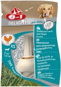 8in1 Przysmak Delights Pro Dental Bones XS [T108948] 1 szt.