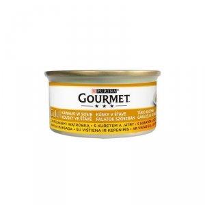 GOURMET GOLD - kurczak i wątróbka 85g
