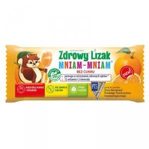 Zdrowy Lizak Mniam-Mniam o smaku pomarańczy Starpharma, 6g (płaski)