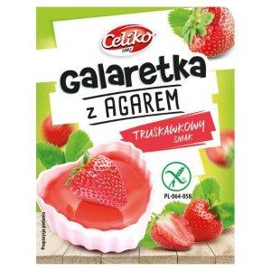Galaretka z agarem o smaku truskawkowym bez glutenu Celiko, 45g