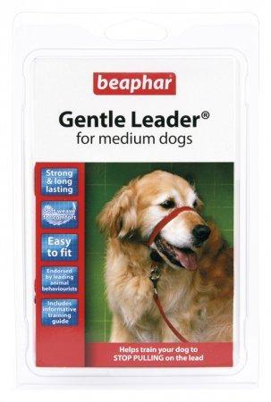 BEAPHAR GENTLE LEADER M - obroża średnia czerwona dla psów