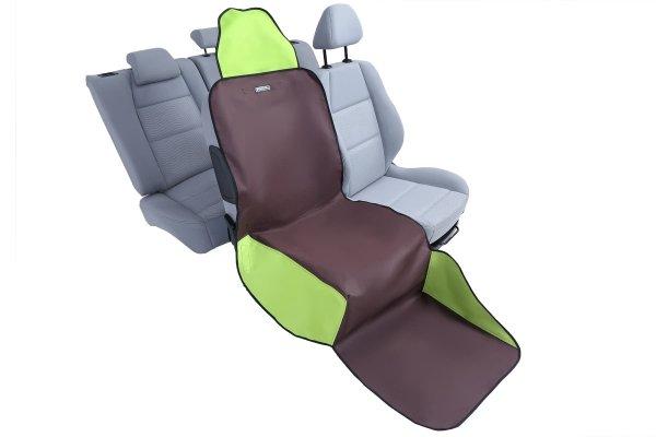 KARDIFF ACTIV na przedni fotel wymiar uniwersalny - BRĄZOWO-ZIELONY