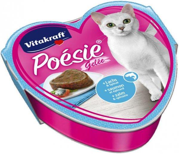 VITAKRAFT POESIE GALARETKA łosoś/szpinak 85g /kot